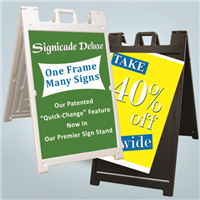 Signicade Deluxe A-Frame Signs