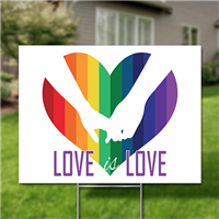 Yard Signs, Pack of 10 - Love is Love