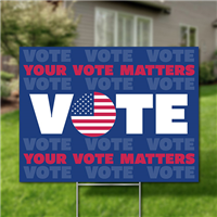 Yard Signs, Pack of 10 - Vote