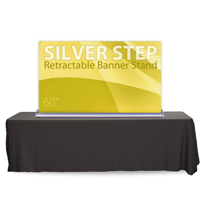 60 Quot Silverstep Tabletop Retractable Bannerstand