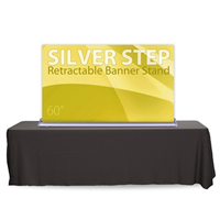 "60"" SilverStep Tabletop Retractable Bannerstand"