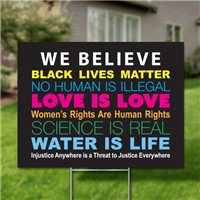 Yard Signs, Pack of 10 - We Believe