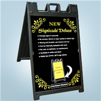 Signicade Deluxe A-Frame Signs - Black