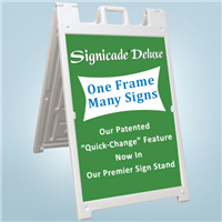 Signicade Deluxe A-Frame Signs - White