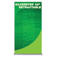 "48"" SilverStep Retractable Bannerstand"