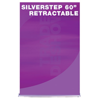 "60"" SilverStep Retractable Bannerstand"
