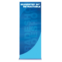 "36"" SilverStep Retractable Bannerstand"