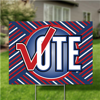 Yard Signs, Pack of 10 - Vote (stylized)