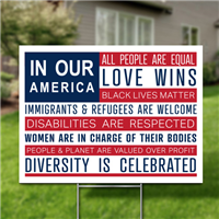 Yard Signs, Pack of 10 - In Our America