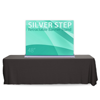 "48"" SilverStep Tabletop Retractable Bannerstand"