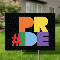 Yard Signs, Pack of 10 - #Pride
