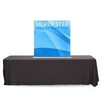 "36"" SilverStep Tabletop Retractable Bannerstand"