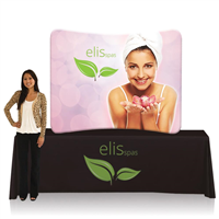 EZ Tube Display - 6ft Curved Tabletop